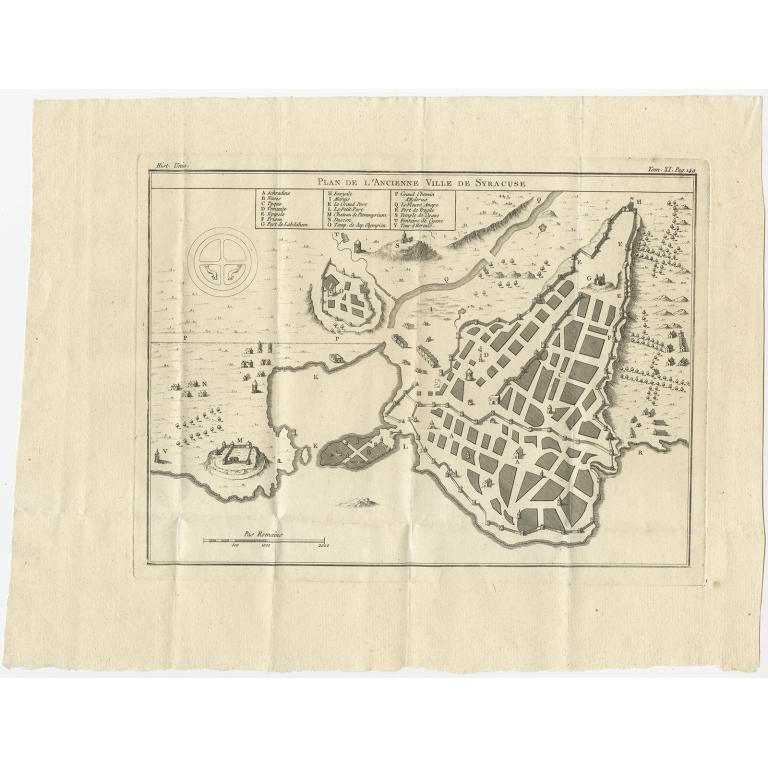 Antique Plan of Ancient Syracuse (c.1790)