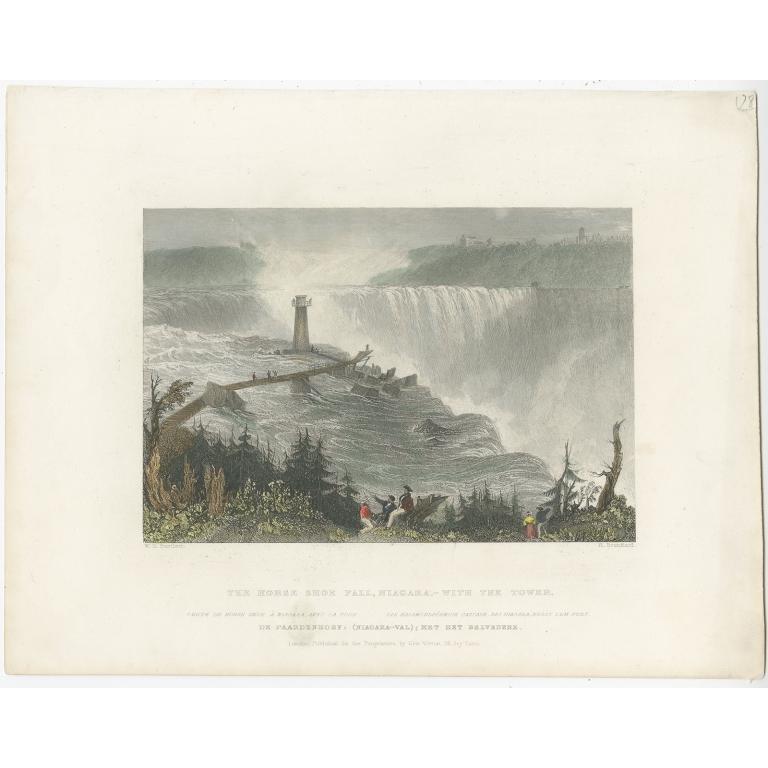 Antique Print of the Horseshoe Falls by Brandard (c.1840)