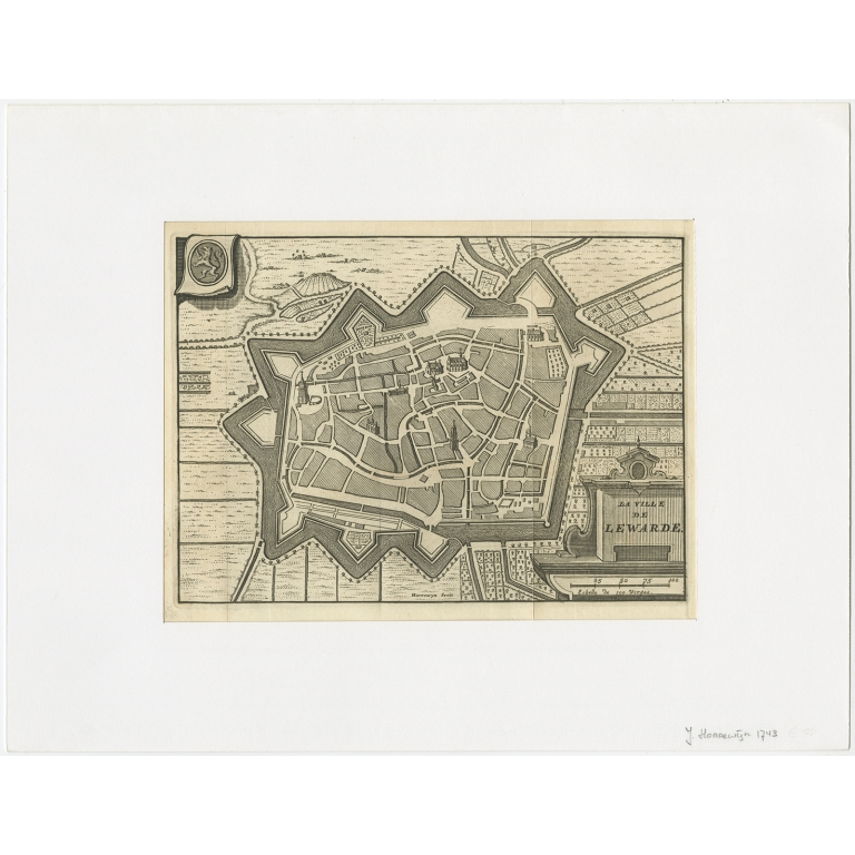 Antique Map of the City of Leeuwarden by Christyn (1785)