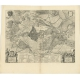 Antique Map of the Siege of Breda by Blaeu (1649)
