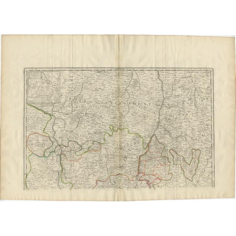 Antique Map of the Region of Lyonnais by Nolin (1697)