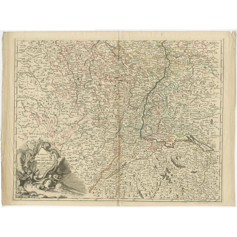 Antique Map of the Lorraine region (c.1760)