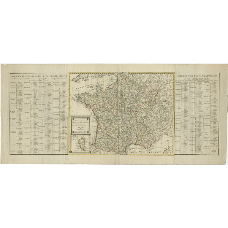 Antique Map of France by Covens & Son (c.1790)