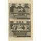 Antique Print of a Chinese Temple and Chinese deity Calamija by Valentijn (1726)