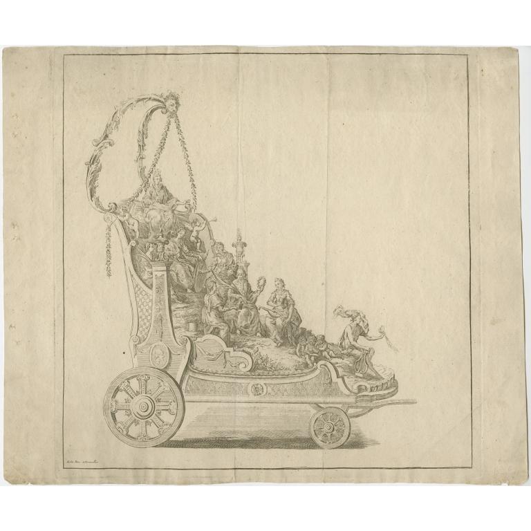 Antique print of a Float by Klauber (1775)