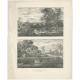 Antique Print of Landscapes by Hützer (c.1835)
