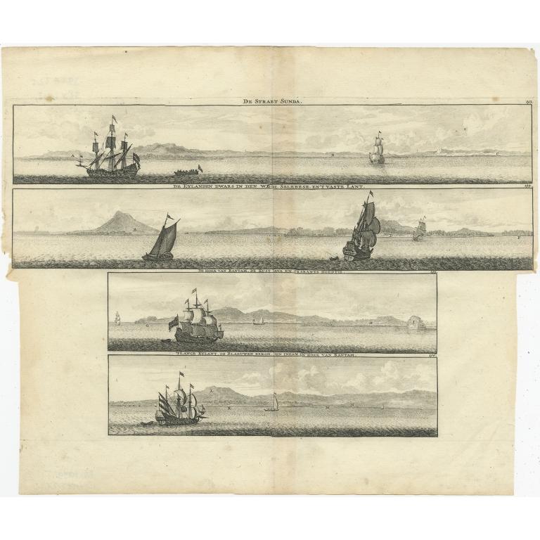 Antique Print of the Sunda Strait by de Bruyn (1714)