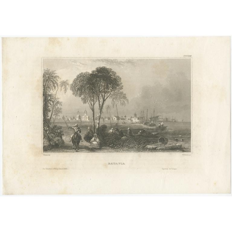 Antique Print of Batavia by Meyer (c.1850)