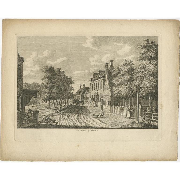 Antique Print of Jorwerd by Bendorp (c.1790)