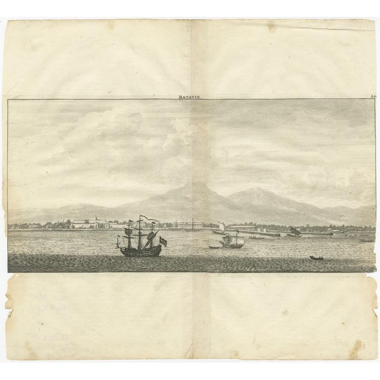 Antique Print of Batavia by De Bruyn (1714)