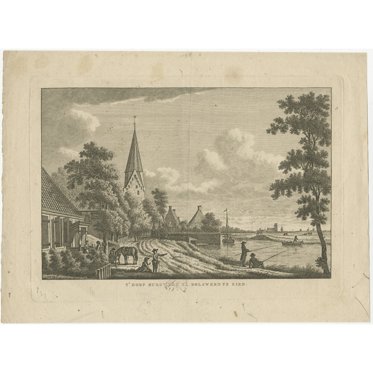 Antique Print of Burgwerd by Bendorp (c.1790)