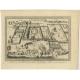 Antique Print of European trading posts at Sabi by Van der Schley (1748)