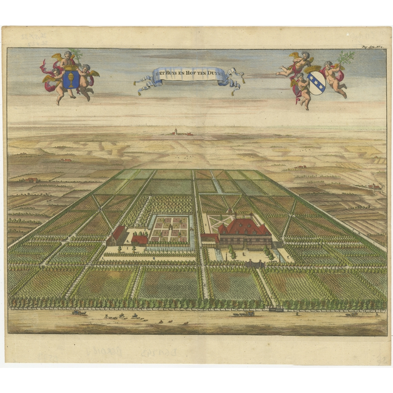 Antique Print of the Oostkapelle Estate by Smallegange (1696)