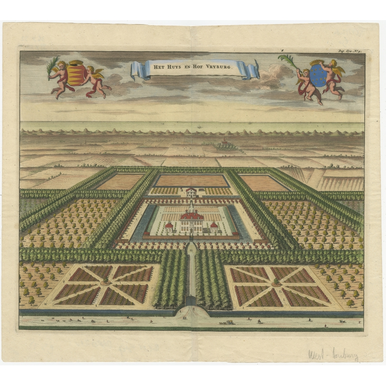 Antique Print of the West-Souburg Estate by Smallegange (1696)