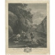 Antique Print of Shepherds and Cattle by Martenasi (c.1770)