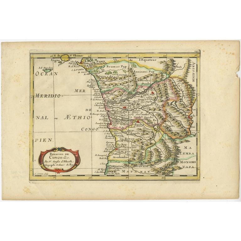 Antique Map of the Congo Region by De Winter (c.1680)