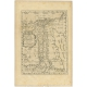Antique Map of Egypt by Sanson (c.1660)