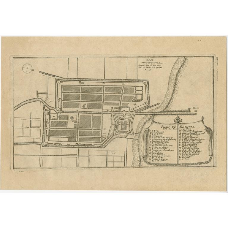 Antique Plan of Batavia by De Fer (c.1695)