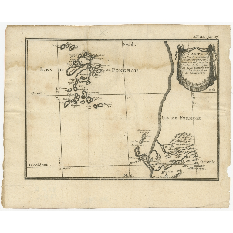 Antique Map of the Penghu Islands Archipelago (c.1780)