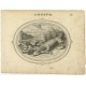 Antique Print of Cupid and a Crocodile by Van Veen (1608)