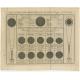 Antique Print explaining a Solar Eclipse (1764)