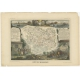 Antique Map of Morbihan by Levasseur (1854)