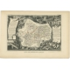 Antique Map of Saone and Loire by Levasseur (1854)