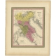 Antique Map of Northern Italy by Mitchell (1846)