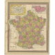 Antique Map of France by Mitchell (1846)