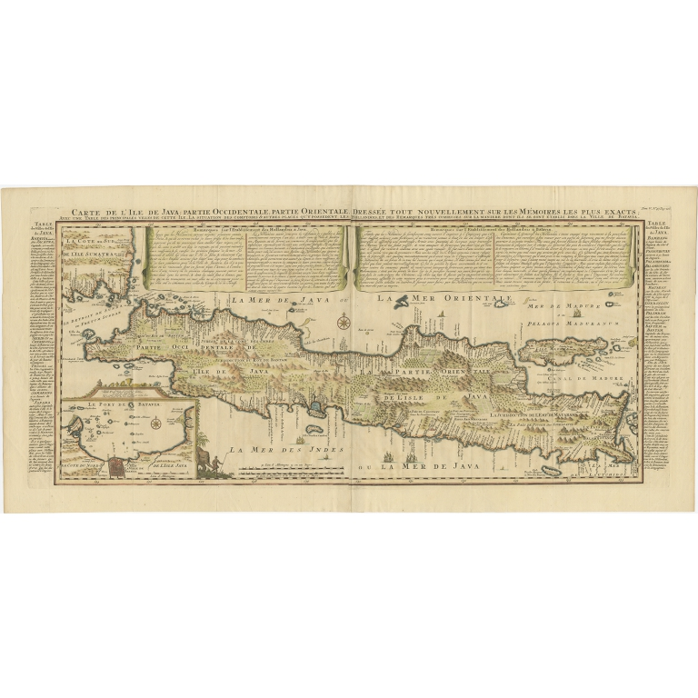 Antique Map of Java by Chatelain (1719)