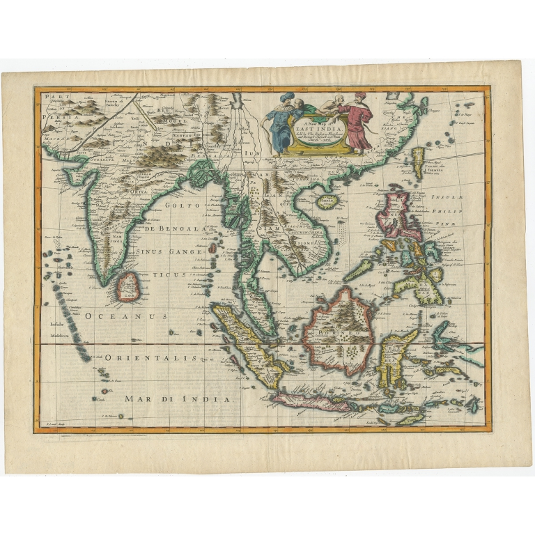 Antique Map of the East Indies by Speed (1676)
