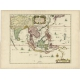Antique Map of the East Indies by Mariette (c.1650)