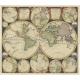 Antique Word Map by Schenk (1706)