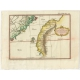 Antique Map of Taiwan and the Province of Fujian by Prévost (1747)