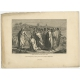 Antique Print of the Delivery of the Keys by Knight (1835)