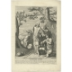 Antique Print of Christ healing the Blind (c.1690)
