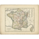 Antique Map of France by Petri (1852)