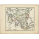 Antique Map of Asia by Petri (1852)