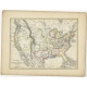 Antique Map of the United States of America by Petri (1852)