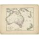 Antique Map of Australia by Petri (1852)