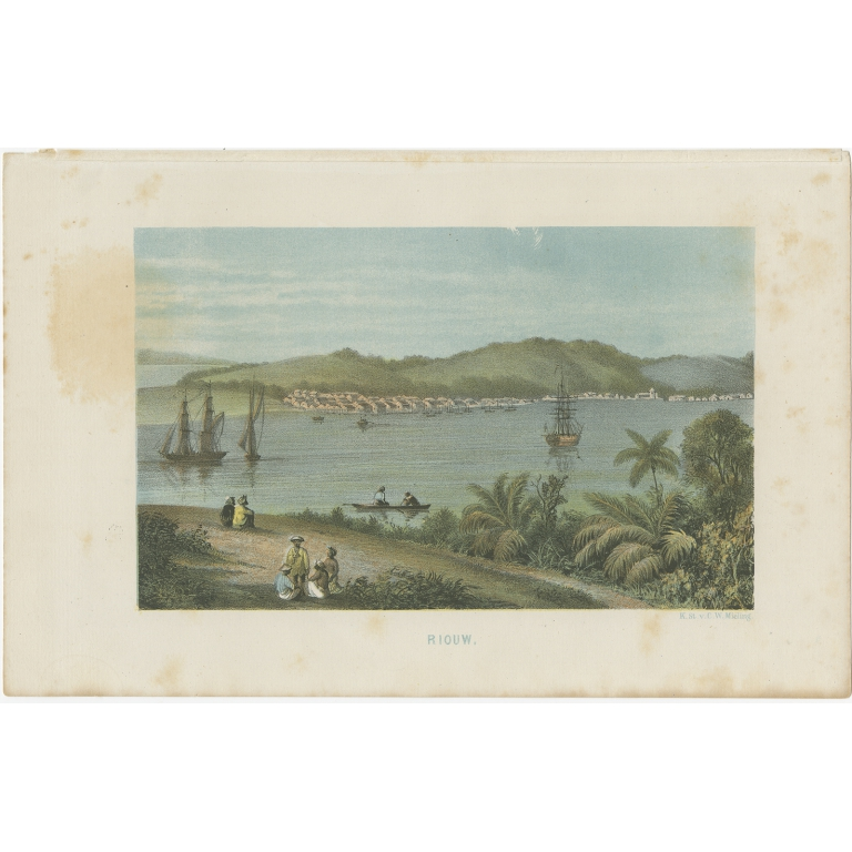 Antique Print of Riau by Mieling (c.1860)