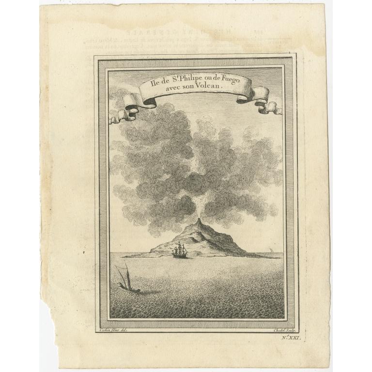 Antique Print of Piton de la Fournaise by Prévost (1746)