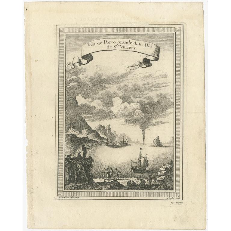 Antique Print of Porto Grande Bay by Prévost (1746)