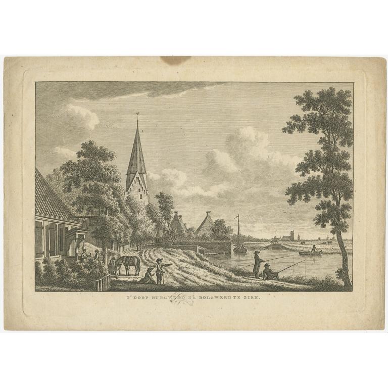 Antique Print of Burgwerd by Bendorp (c.1790)
