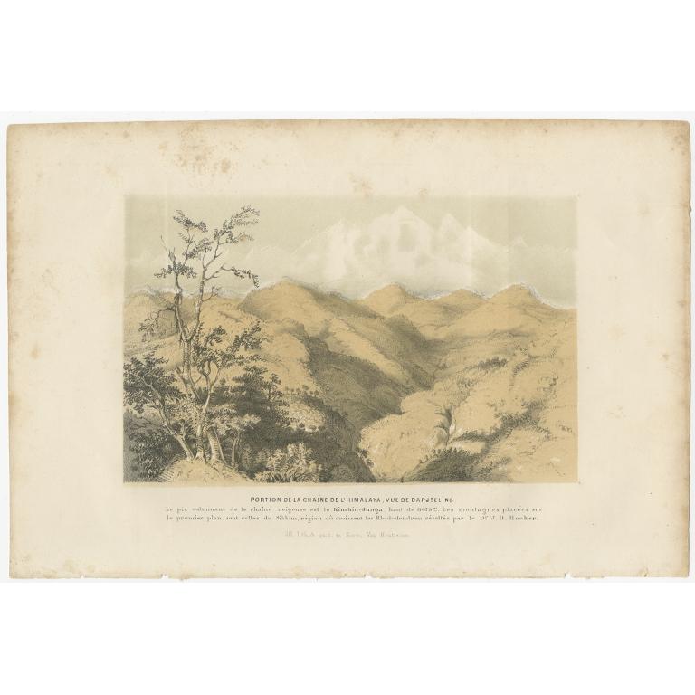 Antique Print of the Darjeeling Himalaya by Van Houtte (1849)