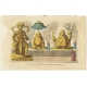 Antique Print of Statues of Chinese Deities by Ferrario (1823)