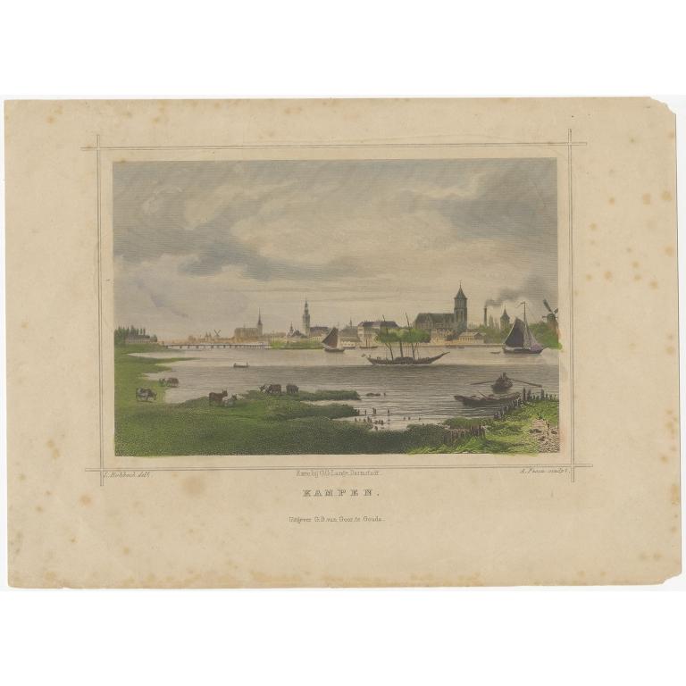 Antique Print of Kampen by Terwen (c.1860)