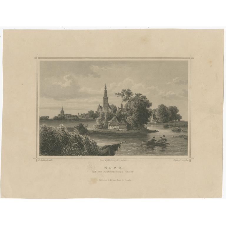 Antique Print of Edam by Terwen (c.1860)