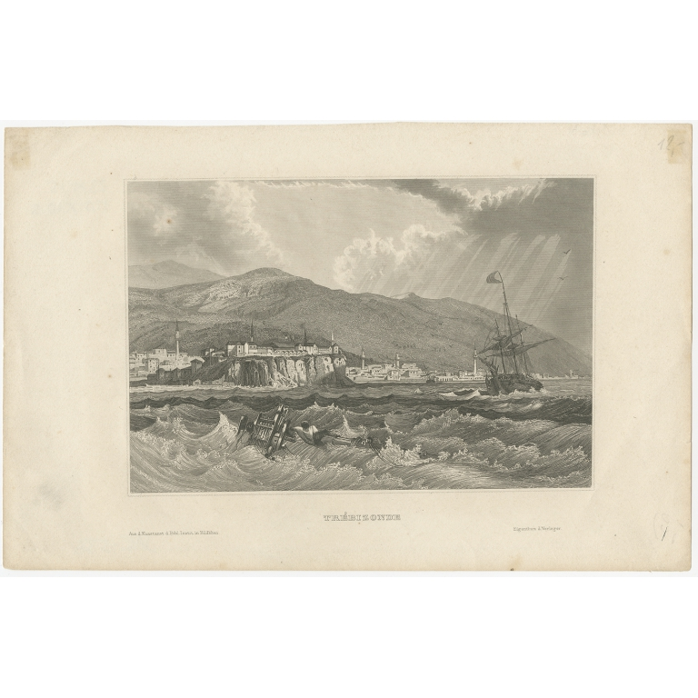 Antique Print of Trabzon by Meyer (1859)
