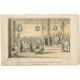Antique Print of the Festival celebrating the Emperor's Birthday by Corner (1843)